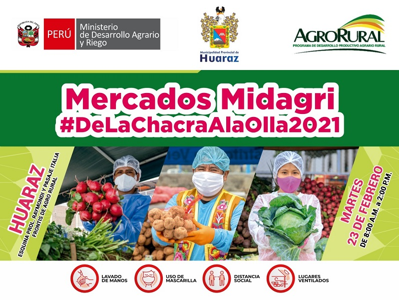 Durante el mes de febrero se realizarán cuatro, iniciándose en Huaraz el próximo martes 23 en el frontis de su institución.